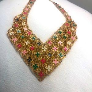 Stunning bib necklace new adjustable